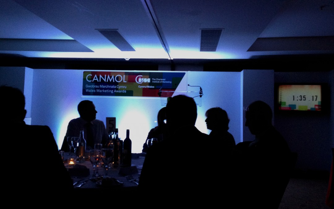 Front row seats at the CIM Canmol Marketing Awards 2014