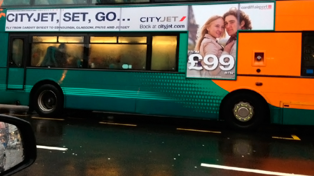 Media Angel client first on new bus advertising formats!