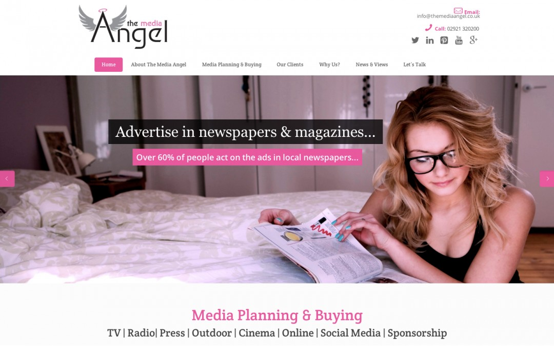A brand new (digital) look for The Media Angel