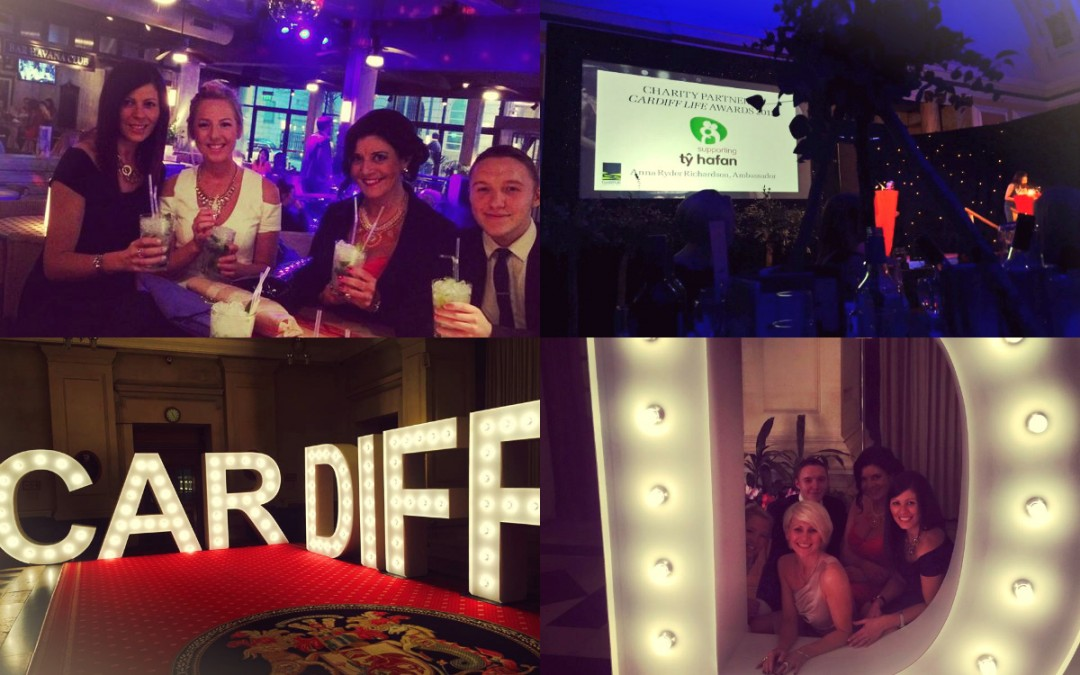 The Media Angel raise a glass at Cardiff Life Awards 2015