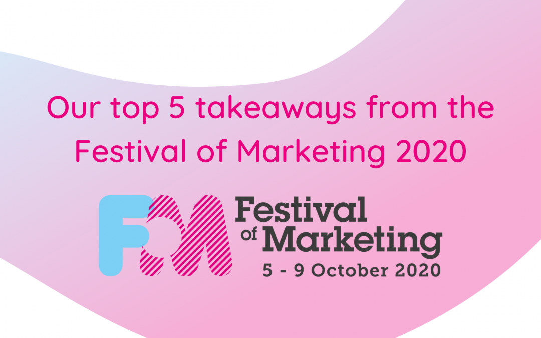 Our top five takeaways from the Festival of Marketing 2020