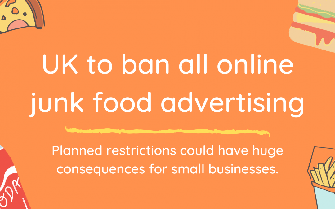 UK to ban all online junk food advertising