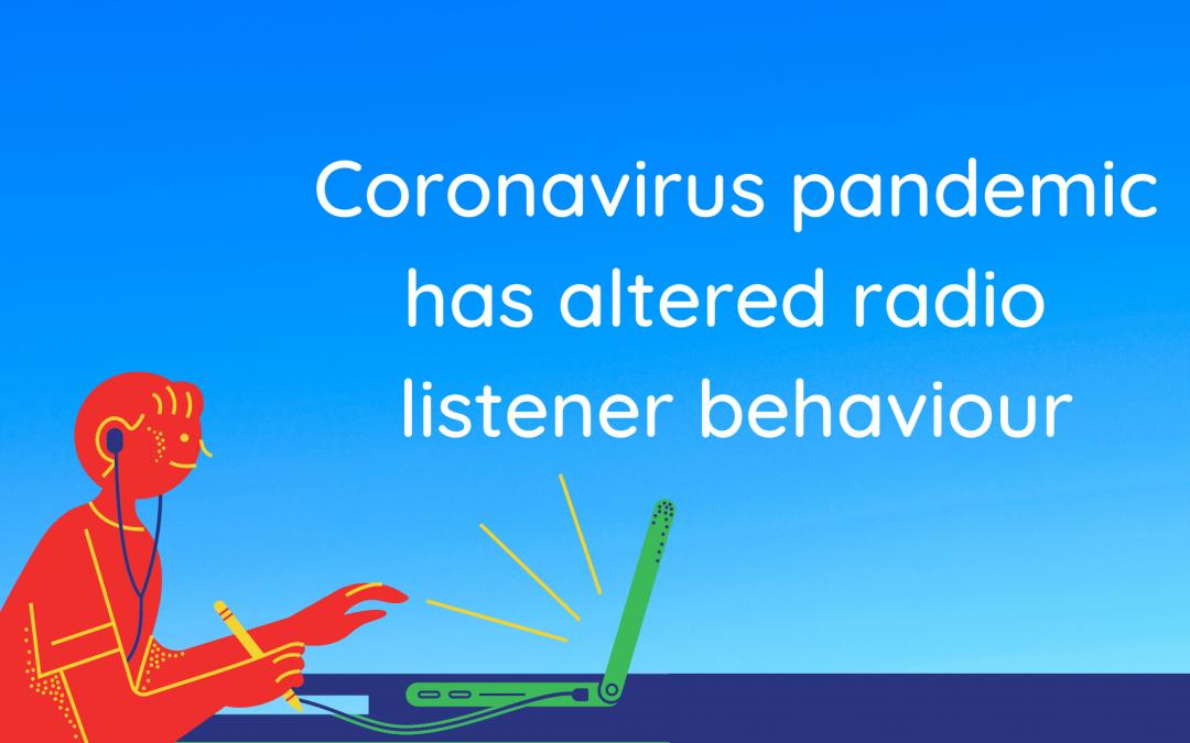 Coronavirus pandemic has altered radio listener behaviour